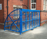 10 cycle storage shelter